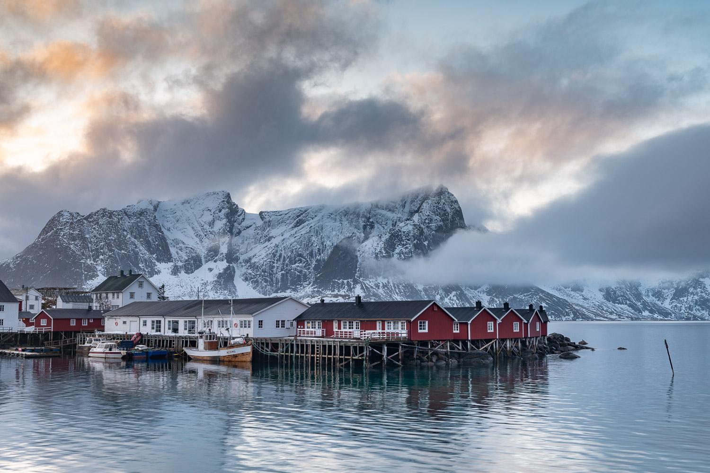 Rorbuer Hütten in Hamnoy, Lofoten, Norwegen