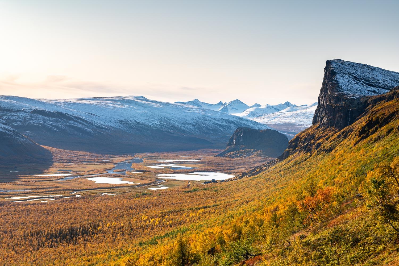 Herbstliche Landschaft, Lappland, Rapadalen
