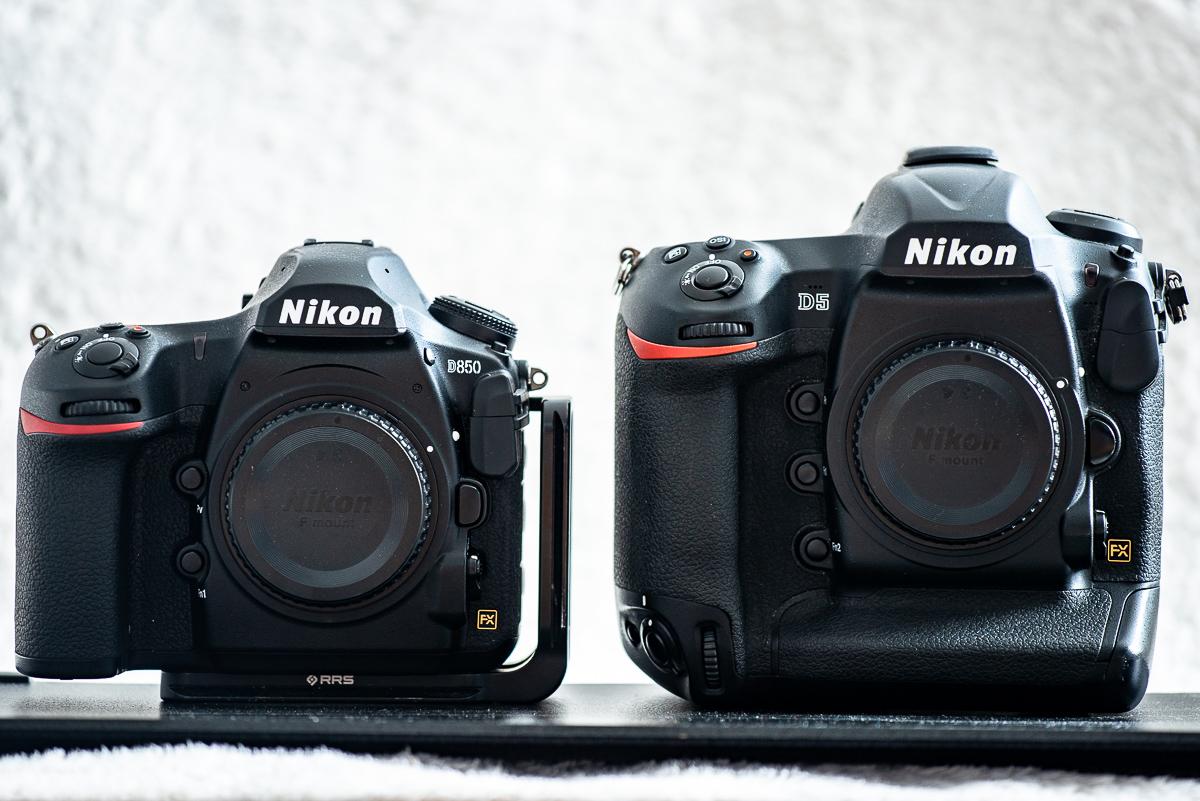 Nikon D850 neben Nikon D5